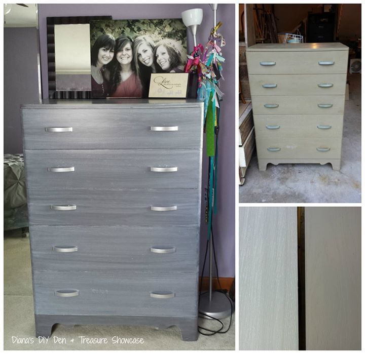 Dresser in Driftwood Milk Paint Topped with Whitewash