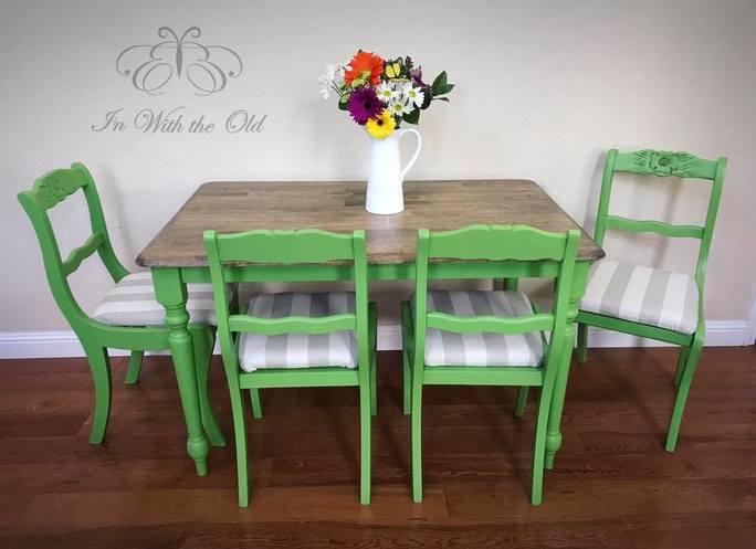 Lime Green Dining Set  General Finishes Design Center