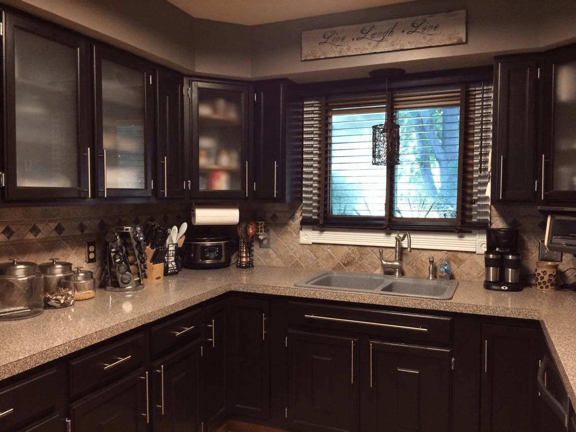 Kitchen Makeover in Dark Chocolate Milk Paint  General