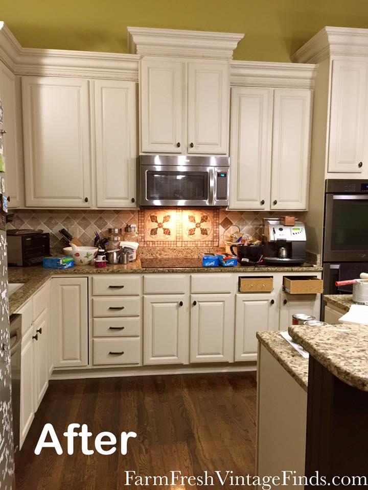 kitchen cabinet makeover kit ceramic tile design in linen milk paint | general finishes ...