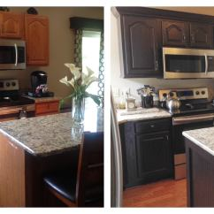 Chocolate Kitchen Cabinets Lighting Idea Brown Painted