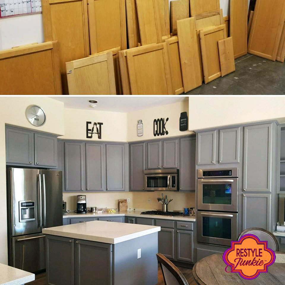 Custom Mixed Gray Kitchen Cabinets General Finishes Design Center