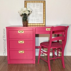 Hot Pink Office Chair Dining Room Covers Ireland Custom Mixed Desk General Finishes Design Center