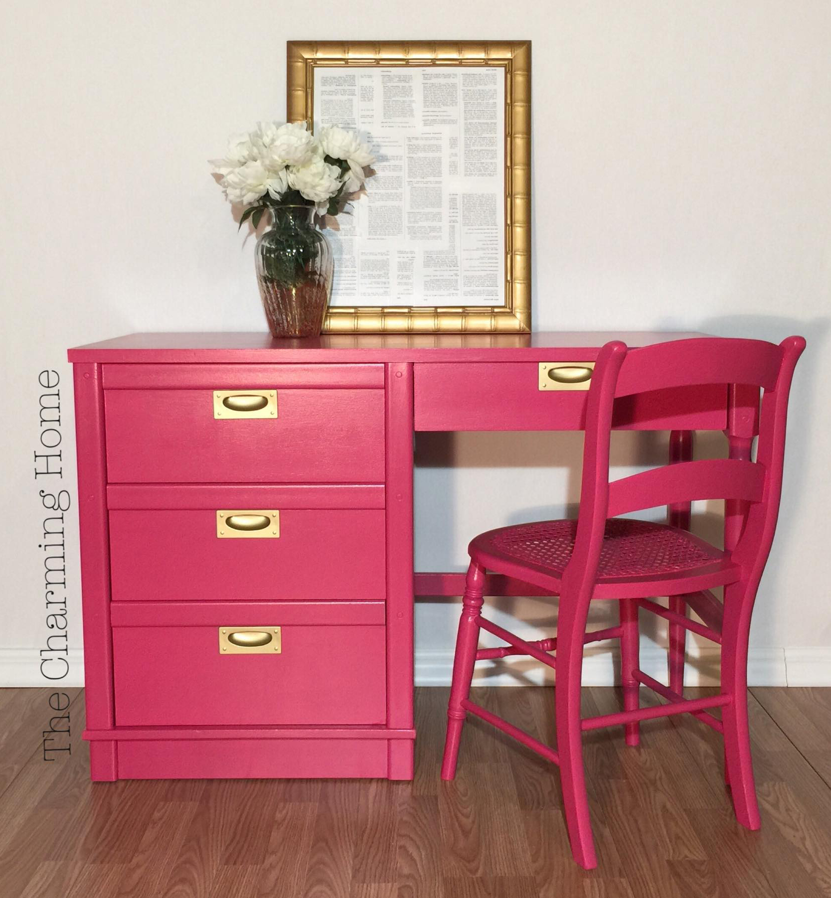 Hot Pink Office Chair Custom Mixed Pink Desk General Finishes Design Center