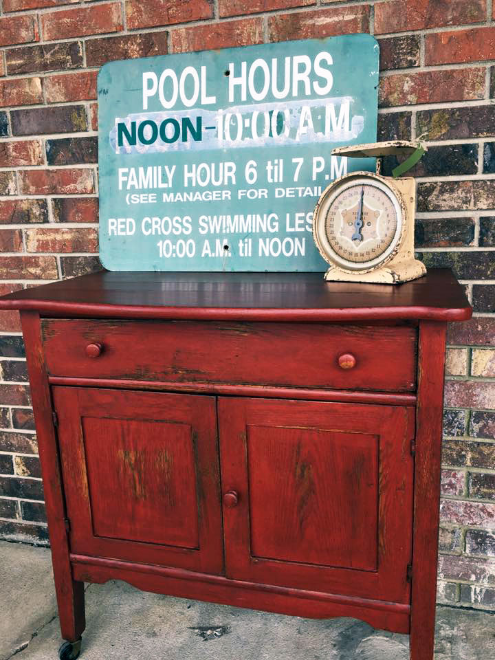 Brick Red Wash Stand General Finishes Design Center
