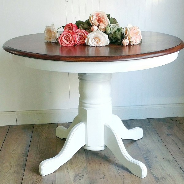 Snow White Pedestal Table General Finishes Design Center
