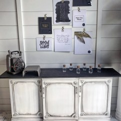 Can I Paint My Kitchen Cabinets Mobile Pitch Black Glazed Antique White Buffet | General Finishes ...