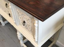 Buffet in Linen and Java | General Finishes Design Center