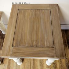 End Table In Antique White Amp Van Dyke Brown Glaze