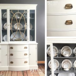 Antique Kitchen Hutch Commercial Hood Cleaning White China Cabinet Upcycle | General Finishes ...
