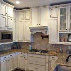 Orange Kitchen Cabinets Countertop Cost Highlighted In Van Dyke Brown Glaze ...