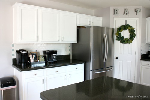 kitchen cabinets light wood updated kitchens in snow white milk paint | general finishes design ...