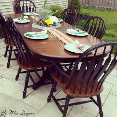 Oak Dining Set 6 Chairs Zero Gravity Lawn Chair Target Antique Walnut And Lamp Black | General Finishes Design Center
