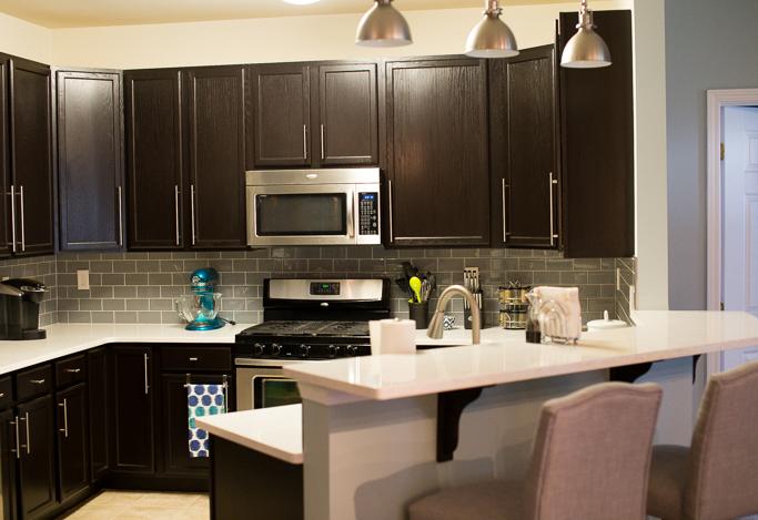 Java Gel Stain Kitchen Transformation