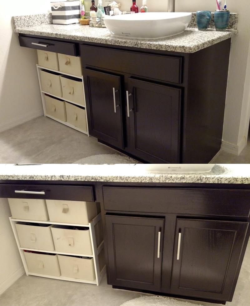 Bathroom Transformation in Java Gel Stain  General