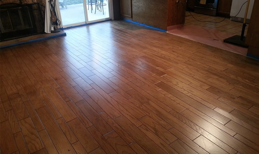 kitchen cabinet stain colors small outdoor ideas before and after floor transformation   general finishes ...