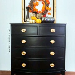 Kitchen Cabinet Stain Colors Unfinished Black Pepper Chalk Style Paint Dresser   General Finishes ...