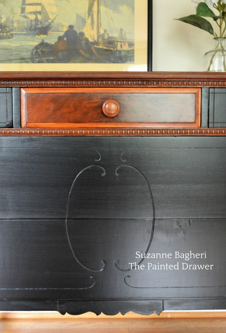 Dresser Transformation Using Antique Walnut  Lamp Black  General Finishes Design Center