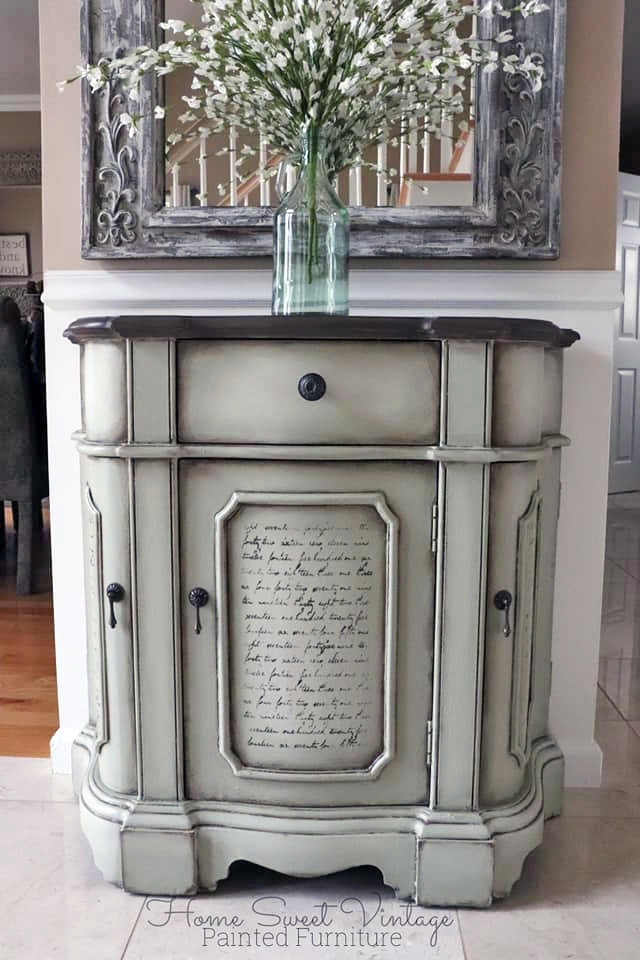 Custom Farmhouse Chalk Style Paint Cabinet