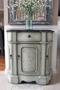 Custom Farmhouse Chalk Style Paint Cabinet | General ...