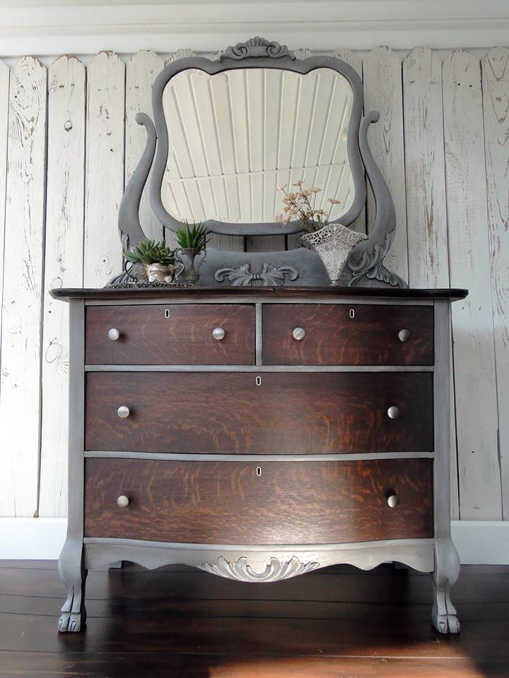 Gray And Java Dresser General Finishes Design Center