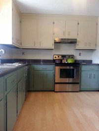 Linen and Basil Kitchen Cabinets