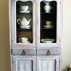 Kitchen Cabinet Paint Colors Mat Sets Winter White Glazed Antique Pie Safe   General Finishes ...