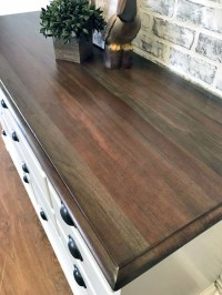 Walnut Water Based Stained Dresser Top | General Finishes ...