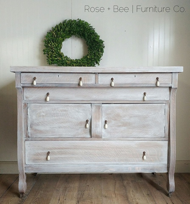 Lovely Buffet in Snow White Whitewash  General Finishes
