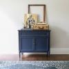 Mid Century Modern Cabinet in Coastal Blue Milk Paint ...