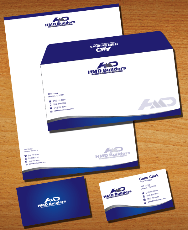 Business Card Letterhead and Envelope