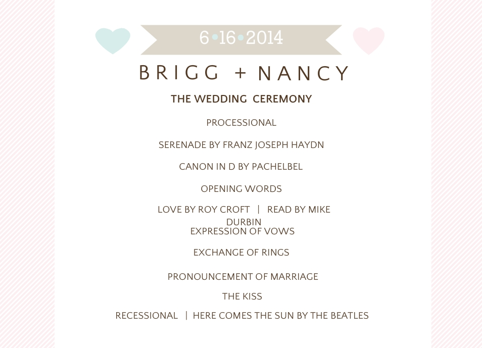 Day-Of Wedding Stationery: Wedding Programs, Wedding Menus