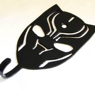 metal black panther wall hooks, black panther wall art