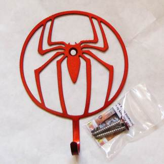 metal spiderman wall hooks, spiderman wall art
