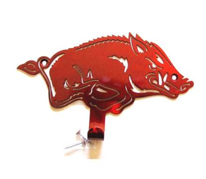 metal arkansas razorback wall hook, arkansas razorback wall art