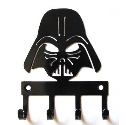 metal darth vader wall hooks, star wars sign