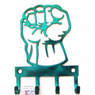 metal hulk wall hooks, hulk fist sign