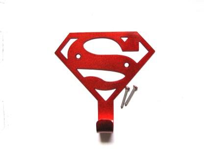 metal superman wall hook, towel hook, coat hook