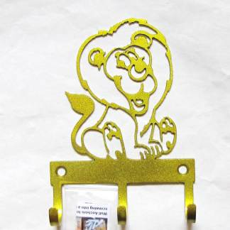 metal baby lion wall hooks