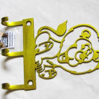 metal baby lion wall hooks