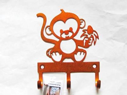 metal baby monkey wall hooks