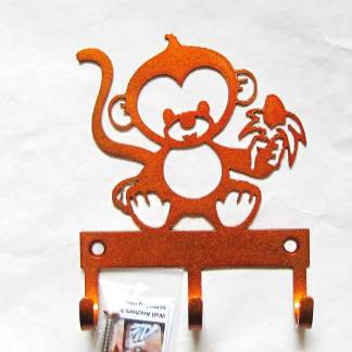 metal baby monkey wall hooks