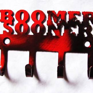 metal ou boomer sooner sign, metal ou boomer sooner wall hooks,
