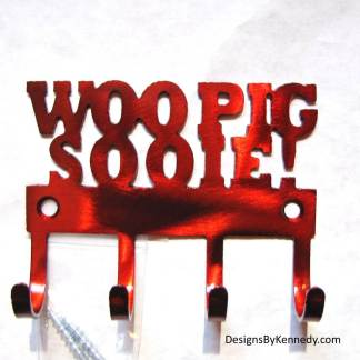 metal arkansas razorback woo pig sooie wall hooks