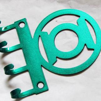 metal green lantern wall hooks