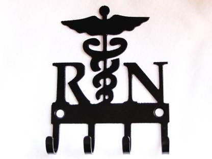 metal registered nurse RN wall hooks