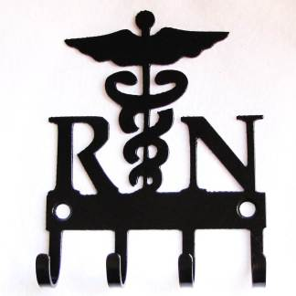 metal registered nurse RN wall hooks