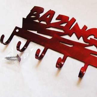 metal bazinga wall hooks, big bang theory wall art