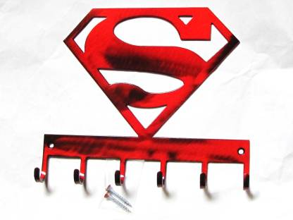 metal superman wall hooks, superhero wall art
