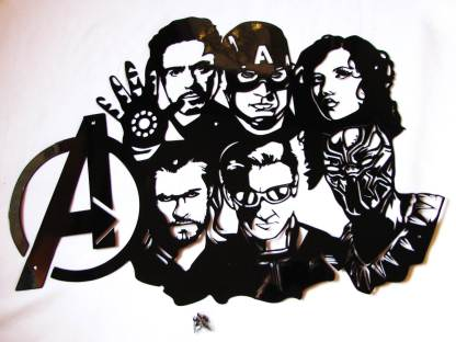 metal avengers wall art